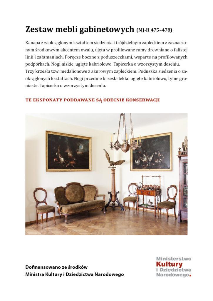 Konserwacja mebli z pałacu Dzieduszyckich w Zarzeczu – etap III